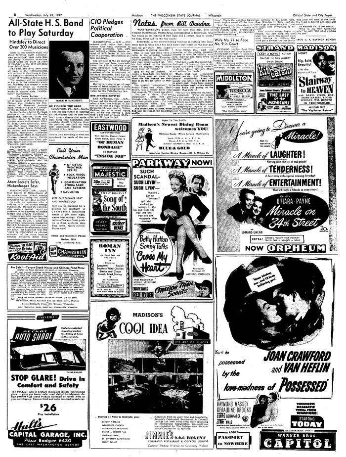 23 July 1947 WI ST JL 700