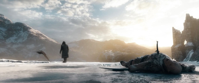 Beautiful shots, Thorin watches Eagles, Azog dead in fgd
