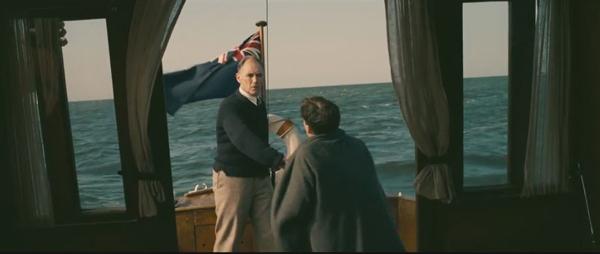 Dunkirk, Dawson's boat with Union Jack