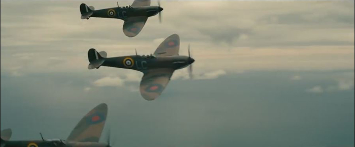 Dunkirk, Spitfires with red dots
