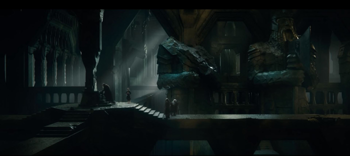 Erebor interior, Thorin upset that Arkenstone not found