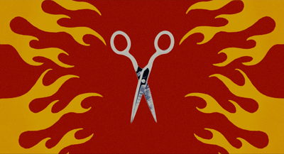 Flaming scissors 400