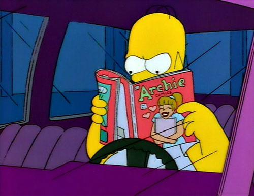Homer reads Archie 500