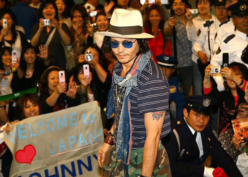 Johnny Depp in Japan