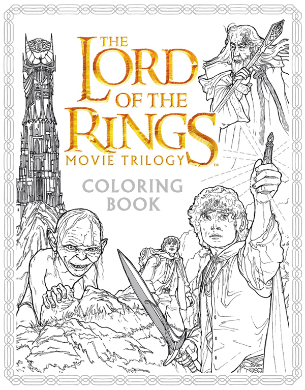 Lord of the Rings coloring book 2016
