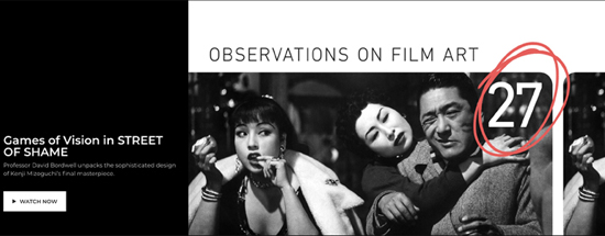 Observations On Film Art Film Technique Staging