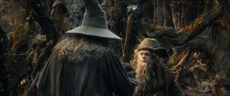 Radagast gives staff to Gandalf