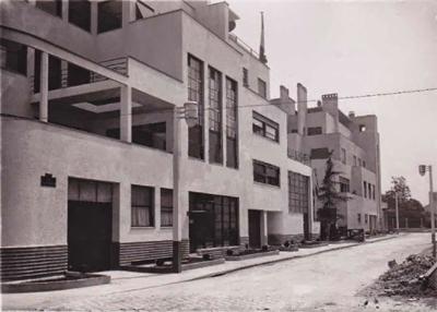 Rue Mallet Stevens veille de l'inauguration in 1927