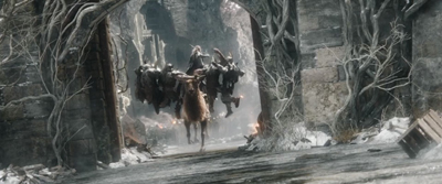 Silly stuff, orcs on Thranduil's elk's horns, beheaded