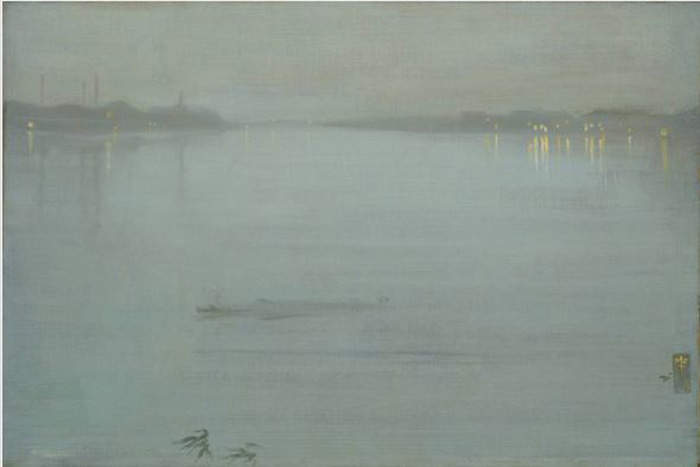 Whistler, Nocturne, Blue and Silver - Cremone Lights 1872 cropped