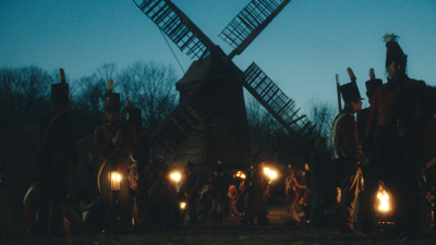 Windmill scene night