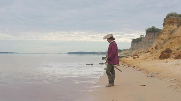 Zama opening shot on beach