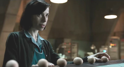 shape of water, Elisa lays out eggs